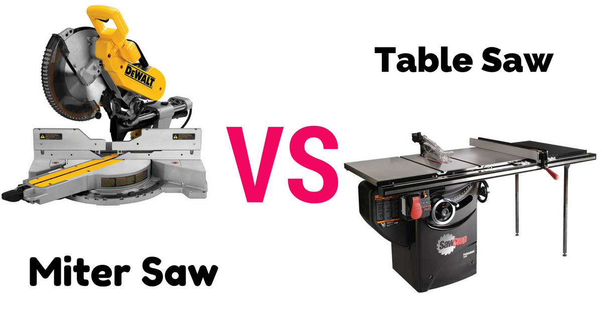 Compare Miter Saw Vs Table Saw A Thorough Guideline For Everybody