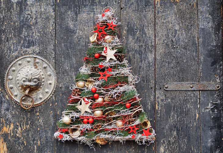 Diy christmas decorations made from reclaimed wood apartment